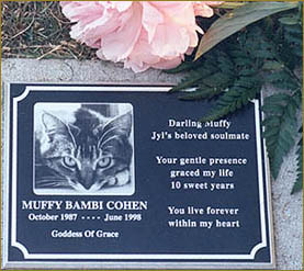 Consider creating  a memorial  to honor your animal companion